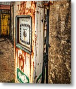 Rusty Gas Pump Metal Print