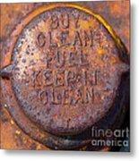 Rusty Gas Tank Cap Metal Print