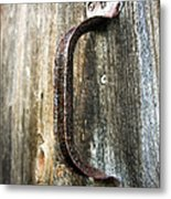 Rusty Handle Metal Print