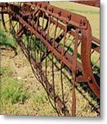 Rusty Hay Rake Metal Print