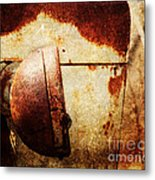 Rusty Headlamp Metal Print