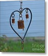 Rusty Heart 2 Metal Print