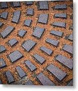 Rusty Iron Hatch Metal Print