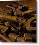 Rusty Keys Metal Print