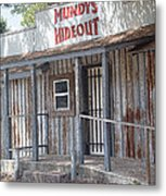 Rusty Metal Architecture Metal Print
