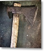 Rusty Old Axe Metal Print by Carlos Caetano