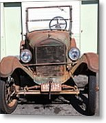 Rusty Old Ford Jalopy 5d24642 Metal Print by Wingsdomain Art and Photography