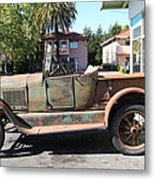 Rusty Old Ford Jalopy 5d24649 Metal Print by Wingsdomain Art and Photography
