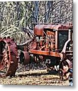 Rusty Old Tractor Metal Print