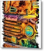 Rusty Old Truck Metal Print