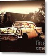 Rusty Oldsmobile Metal Print