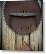 Rusty On The Wall Metal Print
