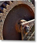 Rusty Picking Metal Print by Gwyn Newcombe