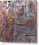 Rusty Plate Door 2 Metal Print