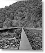 Rusty Rail Metal Print