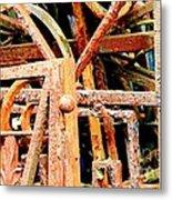 Rusty Railings Metal Print