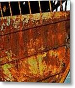 Rusty Remains Of An Old Boat Metal Print