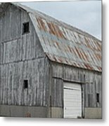 Rusty Roof Barn Metal Print