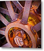 Rusty Spokes Metal Print by Inge Johnsson