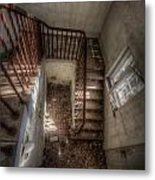 Rusty Stairs Metal Print