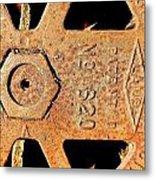 Rusty Steel Metal Print