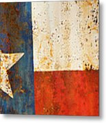 Rusty Texas Flag Rust And Metal Series Metal Print