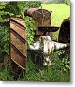 Rusty Tractor 1  Metal Print