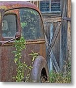 Rusty Vintage Ford Panel Truck Metal Print