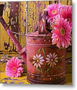 Rusty Watering Can Metal Print