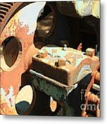 Rusty Wheel Gear Metal Print