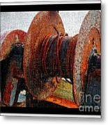 Rusty Winch  Metal Print