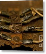 Rusty Wires Metal Print