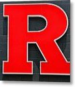Rutgers Block R Metal Print