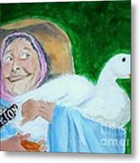 Ruthie The Duck Lady Metal Print by Katie Spicuzza