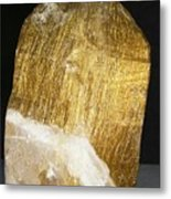 Rutile In Quartz Metal Print