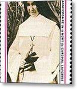 Rwanda Stamp Metal Print