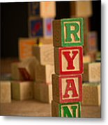Ryan - Alphabet Blocks Metal Print