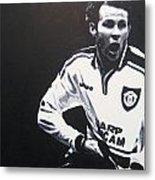 Ryan Giggs - Manchester United Fc Metal Print