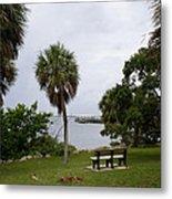 Ryckman Park In Melbourne Beach Florida Metal Print by Allan  Hughes