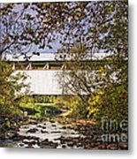 Ryot Covered Bridge And Stream Metal Print