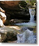 Sabbaday Falls Gorge Metal Print