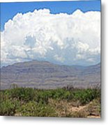 Sacramento Mountains Storm Clouds Metal Print