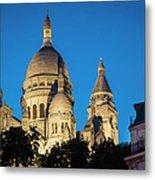 Sacre Coeur - Night View Metal Print