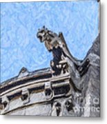 Sacre Coeur Gargoyle Metal Print
