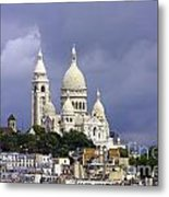 Sacre Coeur Paris France Metal Print