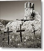 Sacred Cross Metal Print
