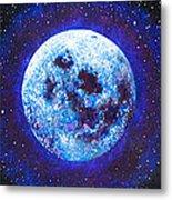 Sacred Feminine Blue Moon Metal Print