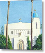 Sacred Heart Church Coronado Metal Print by Mary Helmreich