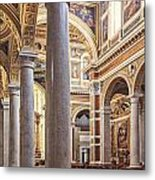 Sacred Heart Of Jesus Church Rome Italy Metal Print