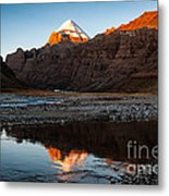 Sacred Mountain In Tibet - Mount Kailash Metal Print